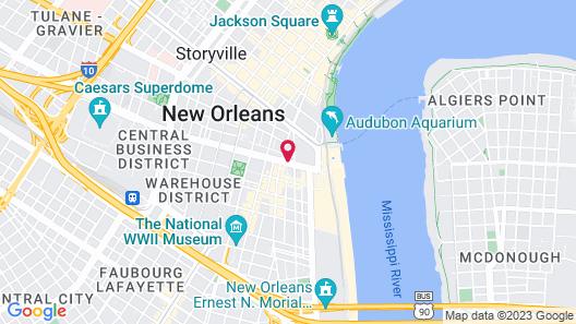 Le Méridien New Orleans Map