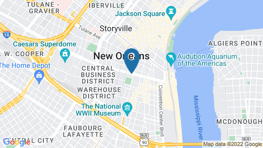 The Whitney Hotel Map