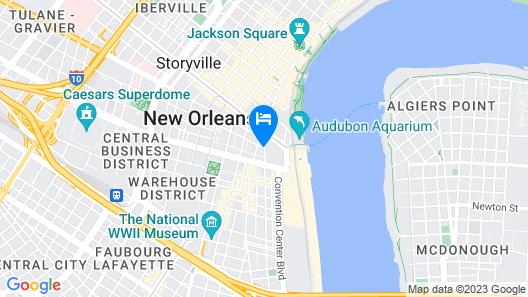 Windsor Court Hotel Map