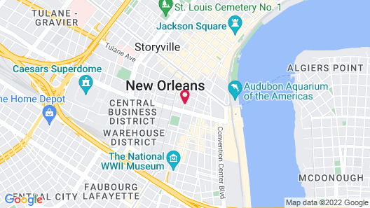 Q&C HotelBar New Orleans, Autograph Collection Map