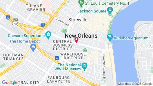Le Pavillon New Orleans Map