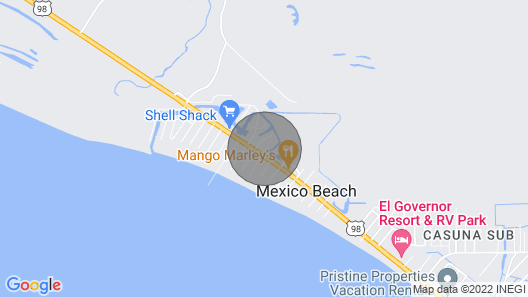 Waterside Condo 301 in Mexico Beach! Map