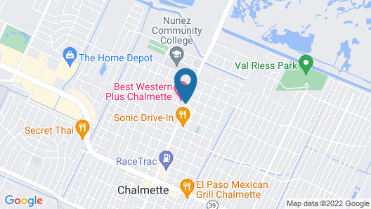 Best Western Plus Chalmette Hotel Map