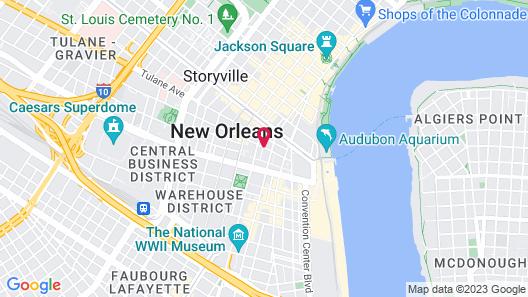 Loft 523 New Orleans Map
