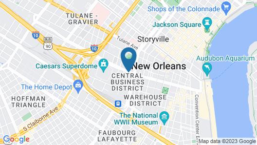 Hyatt House New Orleans/Downtown Map