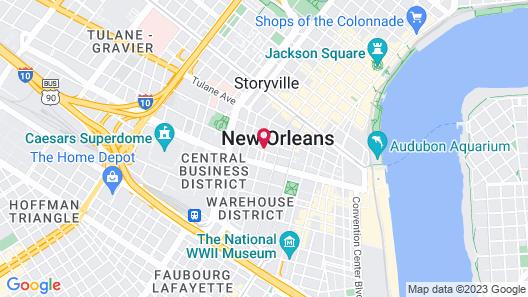 Fairfield Inn & Suites New Orleans Downtown Map