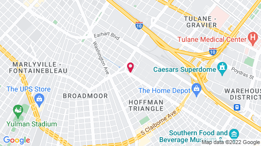 Crescent Palms Motel Map
