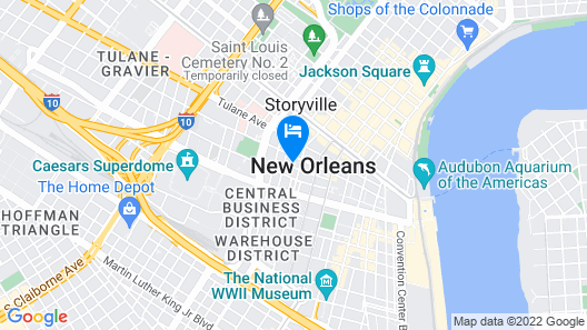 NOPSI Hotel, New Orleans Map
