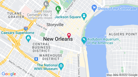 Sheraton New Orleans Hotel Map