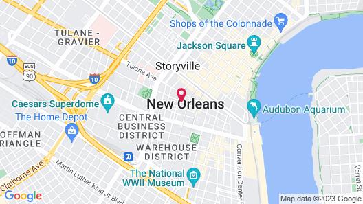 Hilton Garden Inn New Orleans French Quarter/CBD Map