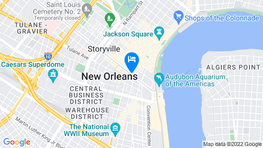 New Orleans Marriott Map