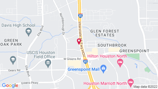 OYO Townhouse Houston Airport North Map