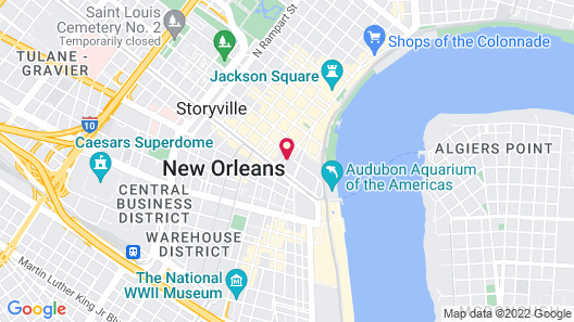 La Galerie French Quarter Hotel Map