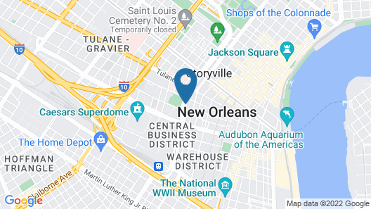 Holiday Inn New Orleans - Downtown Superdome Map