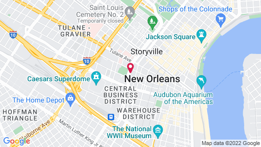 Holiday Inn New Orleans - Downtown Superdome, an IHG Hotel Map