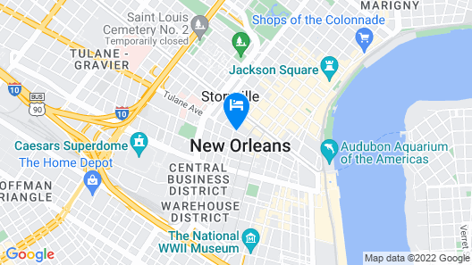 Renaissance New Orleans Pere Marquette French Qtr Area Hotel Map