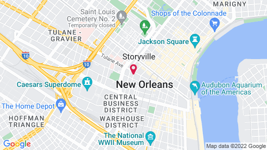 MOXY by Marriott New Orleans Downtown French Quarter Map