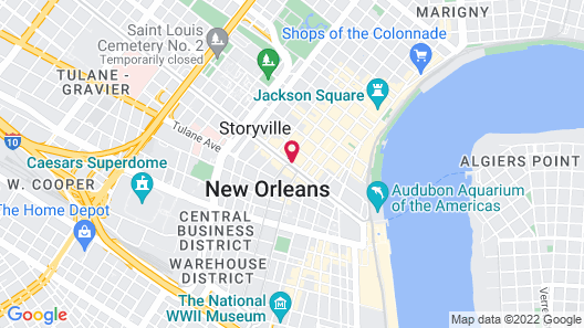 Astor Crowne Plaza New Orleans French Quarter Map