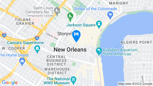 Astor Crowne Plaza New Orleans, an IHG Hotel Map