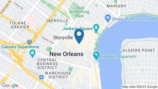 Hotel Monteleone, New Orleans Map
