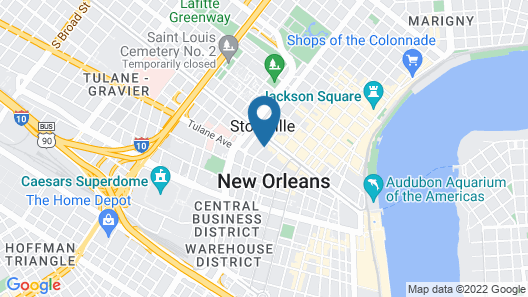 The Roosevelt New Orleans, A Waldorf Astoria Hotel Map