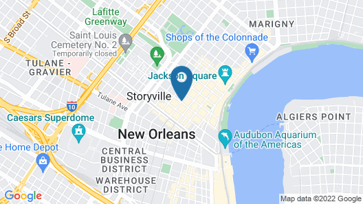 Royal Sonesta New Orleans Map