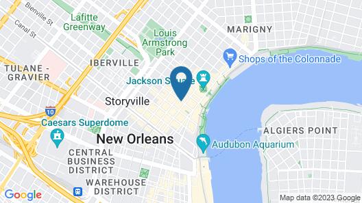 Omni Royal Orleans Hotel Map