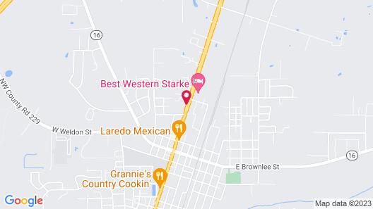 Motel 6 Starke, FL Map
