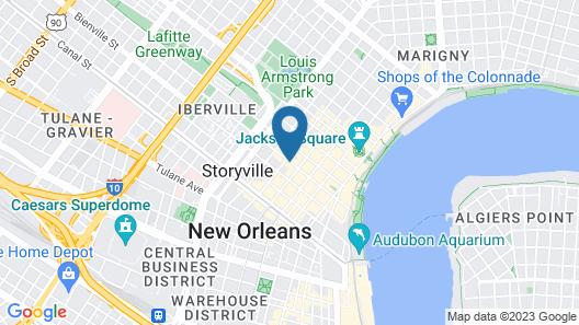 Prince Conti Hotel Map