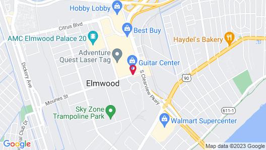 Hampton Inn & Suites New Orleans-Elmwood/Clearview Pkway, LA Map