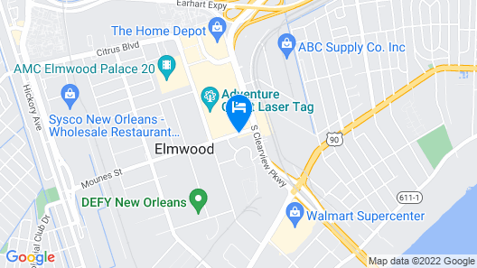 Hampton Inn & Suites New Orleans-Elmwood/Clearview Pkway, LA Map