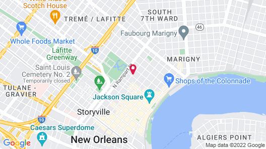 Hotel St. Pierre®, a French Quarter Inns® Hotel Map