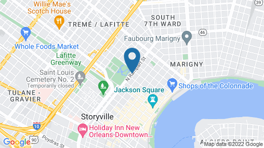 Best Western Plus French Quarter Courtyard Hotel Map