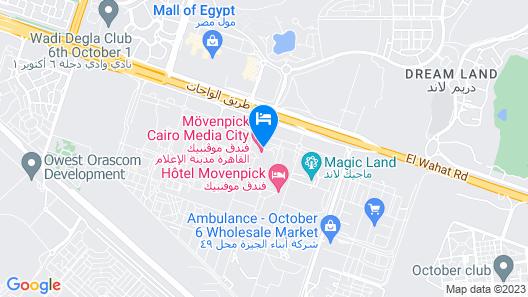 Movenpick Hotel & Casino Cairo-Media City Map