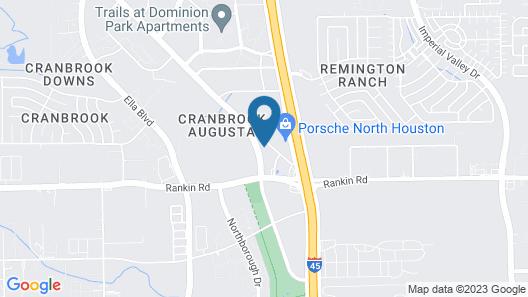 Motel 6 Houston, TX - North Map