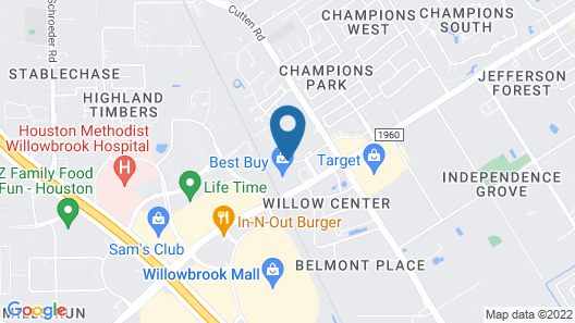 Extended Stay America Suites Houston Willowbrook Map