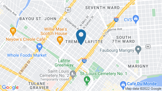 The Tremé Hotel Map