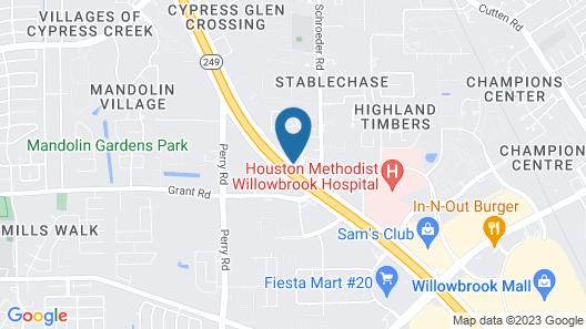 Wyndham Garden Houston Willowbrook Map