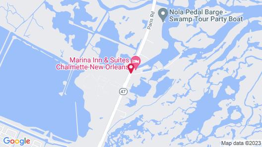 Marina Inn & Suites Chalmette - New Orleans Map