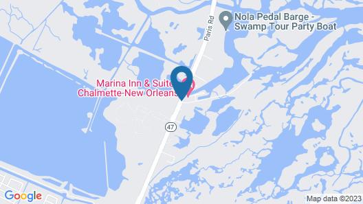 Marina Inn & Suites Chalmette-New Orleans Map