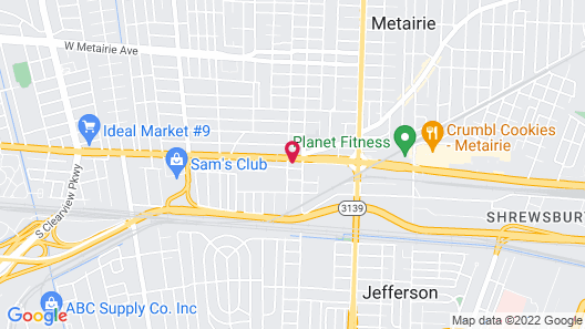 Texas Motel Map