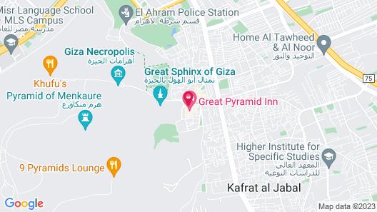 Mena Inn Pyramids Map
