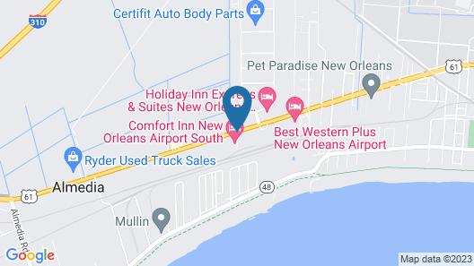 Comfort Inn New Orleans Airport Map