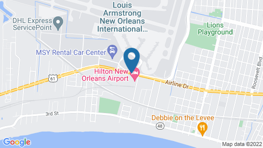 Hilton New Orleans Airport Map