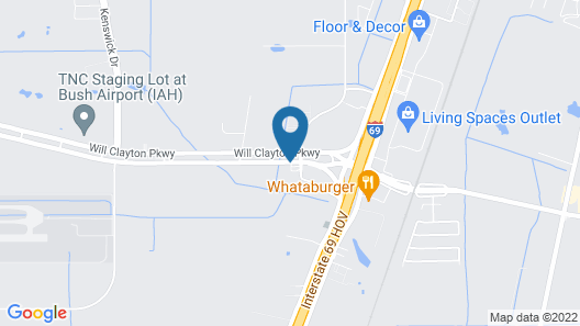 Comfort Inn & Suites IAH Bush Airport – East Map