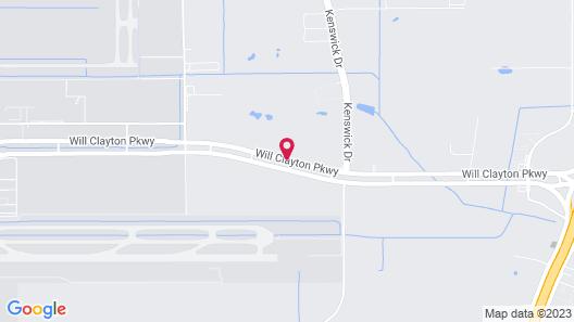 Ramada by Wyndham Houston Intercontinental Airport East Map
