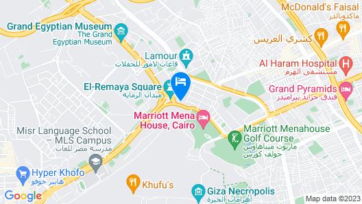 Le Méridien Pyramids Hotel & Spa Map