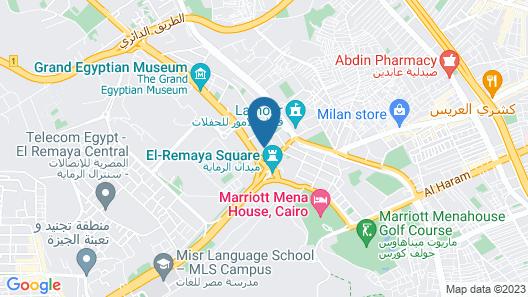Mercure Cairo Le Sphinx Hotel Map