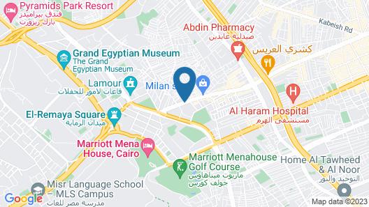 Pyramids Plaza Hotel Map