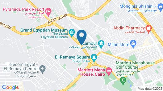 Cairo Pyramids Hotel Map